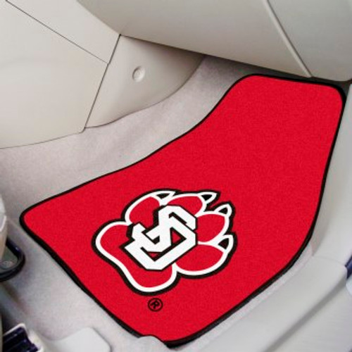 University of South Dakota 2-pc Carpet Car Mat Set