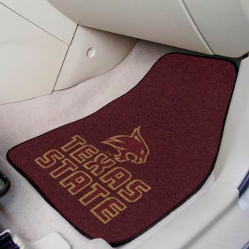 Texas State University 2-pc Carpet Car Mat Set