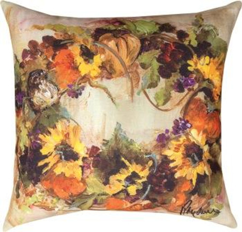 Sunflower Wreath Climaweave Pillow