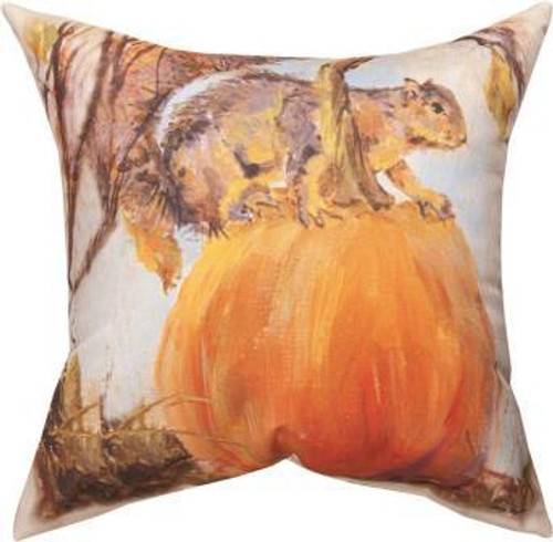 Squirrel On Pumpkin Climaweave Pillow