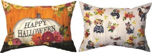 Floral Day Of The Dead Reversible Climaweave Pillow