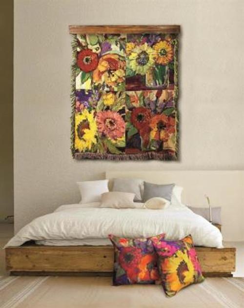 Floral Workshop Tapestry Throw