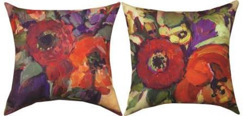 Floral Workshop Poppys Reversible Climaweave Pillow