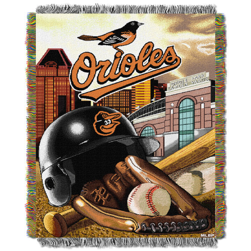 Baltimore Orioles Home Field Advantage Woven Tapestry Throw Blanket