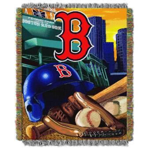 Boston Red Sox Home Field Advantage Woven Tapestry Throw Blanket