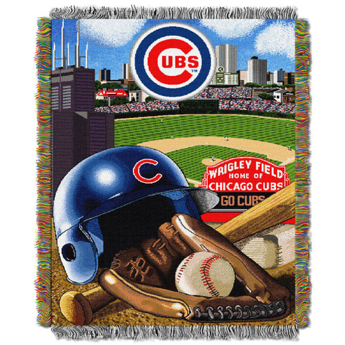 Chicago Cubs Home Field Advantage Woven Tapestry Throw Blanket