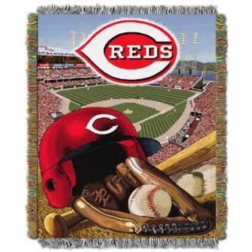 Cincinnati Reds Home Field Advantage Woven Tapestry Throw Blanket