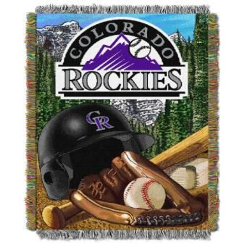 Colorado Rockies Home Field Advantage Woven Tapestry Throw Blanket