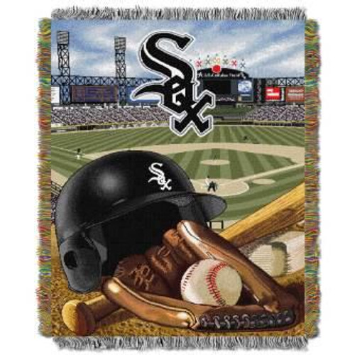 Chicago White Sox Home Field Advantage Woven Tapestry Throw Blanket