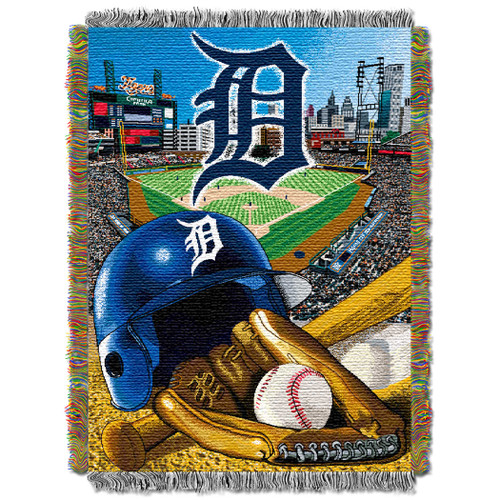 Detroit Tigers Home Field Advantage Woven Tapestry Throw Blanket