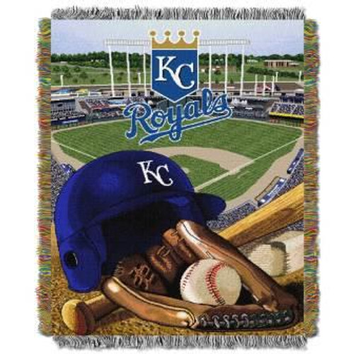 Kansas City Royals Home Field Advantage Woven Tapestry Throw Blanket