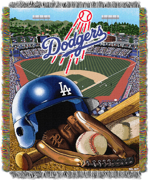 Los Angeles Dodgers Home Field Advantage Woven Tapestry Throw Blanket