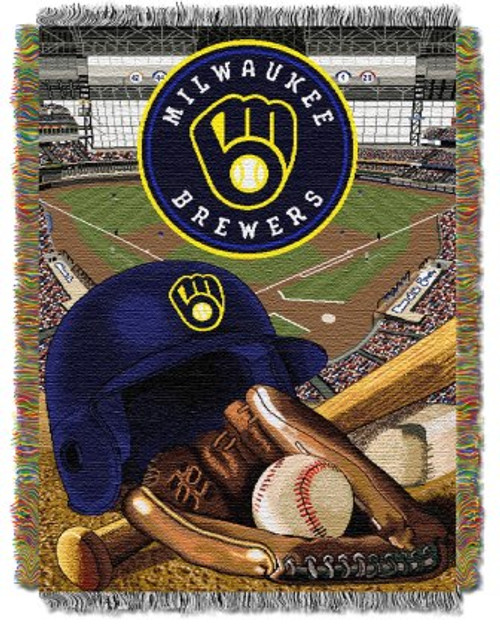 Milwaukee Brewers Home Field Advantage Woven Tapestry Throw Blanket