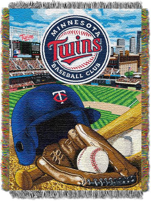 Minnesota Twins Home Field Advantage Woven Tapestry Throw Blanket