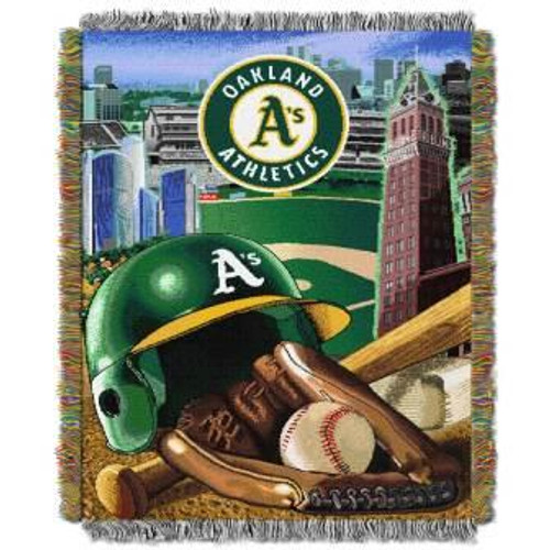 Oakland Athletics Home Field Advantage Woven Tapestry Throw Blanket