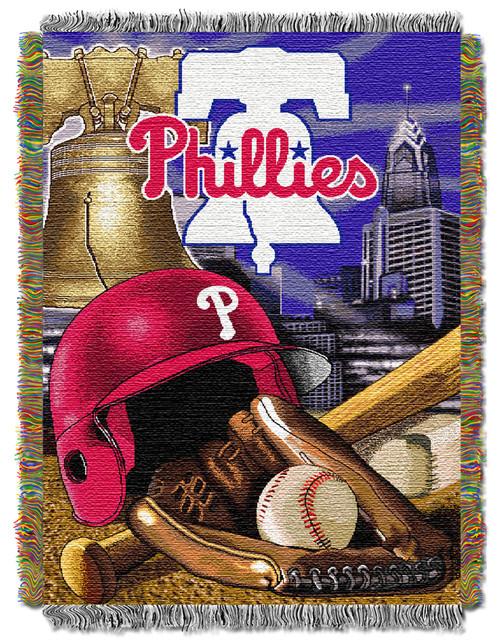 Philadelphia Phillies Home Field Advantage Woven Tapestry Throw Blanket