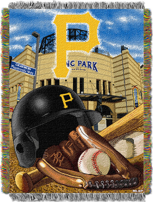 Pittsburgh Pirates Home Field Advantage Woven Tapestry Throw Blanket