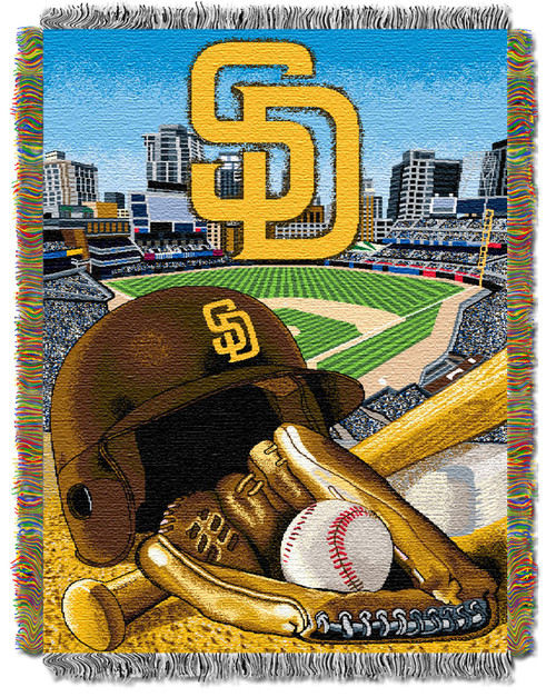 San Diego Padres Home Field Advantage Woven Tapestry Throw Blanket