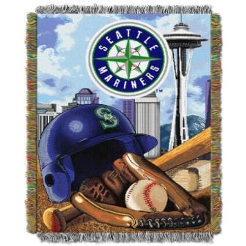 Seattle Mariners Home Field Advantage Woven Tapestry Throw Blanket