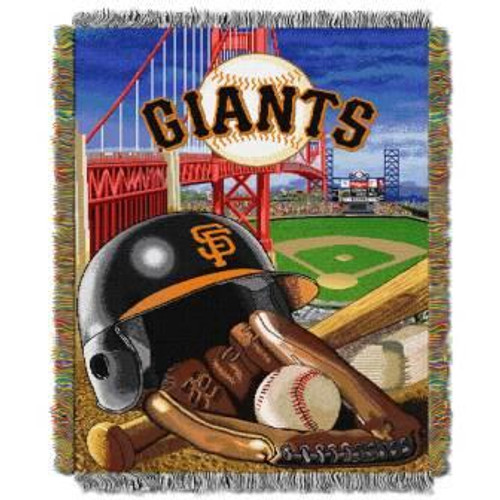 San Francisco Giants Home Field Advantage Woven Tapestry Throw Blanket