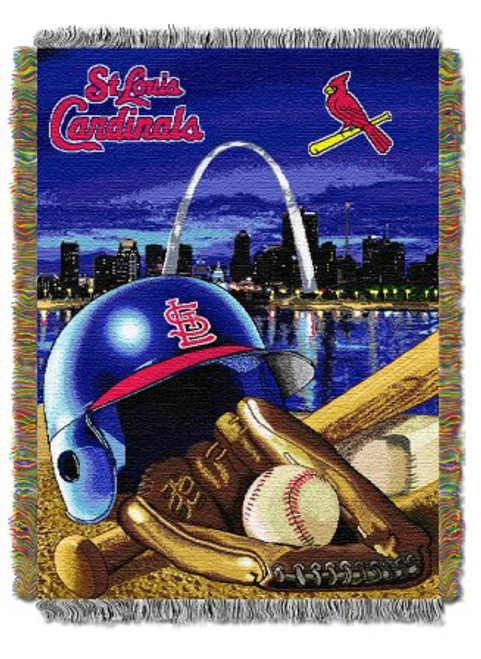 St Louis Cardinals Home Field Advantage Woven Tapestry Throw Blanket