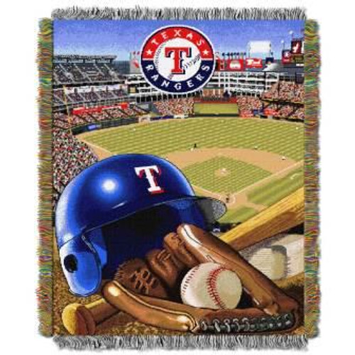 Texas Rangers Home Field Advantage Woven Tapestry Throw Blanket