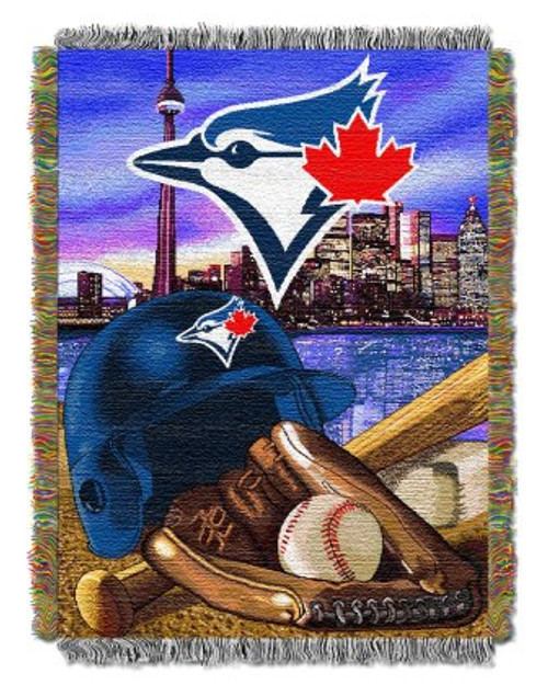 Toronto Blue Jays Home Field Advantage Woven Tapestry Throw Blanket
