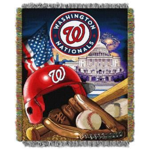 Washington Nationals Home Field Advantage Woven Tapestry Throw Blanket