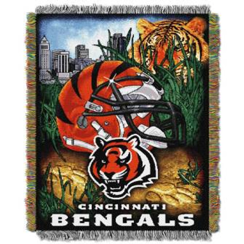 Cincinnati Bengals Home Field Advantage Woven Tapestry Throw Blanket