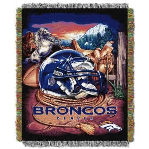 Denver Broncos Home Field Advantage Woven Tapestry Throw Blanket