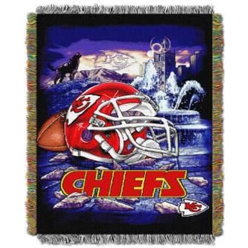 Kansas City Chiefs Home Field Advantage Woven Tapestry Throw Blanket