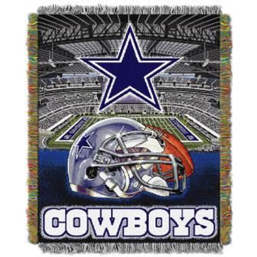 Dallas Cowboys Home Field Advantage Woven Tapestry Throw Blanket