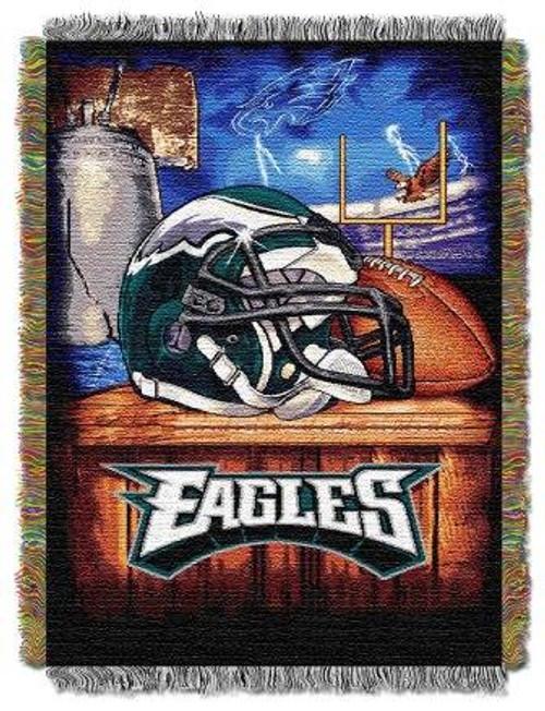 Philadelphia Eagles Home Field Advantage Woven Tapestry Throw Blanket
