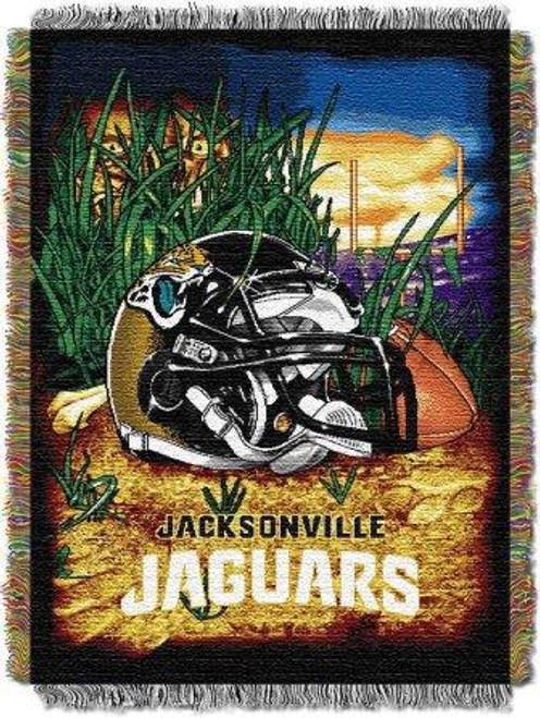 Jacksonville Jaguars Home Field Advantage Woven Tapestry Throw Blanket