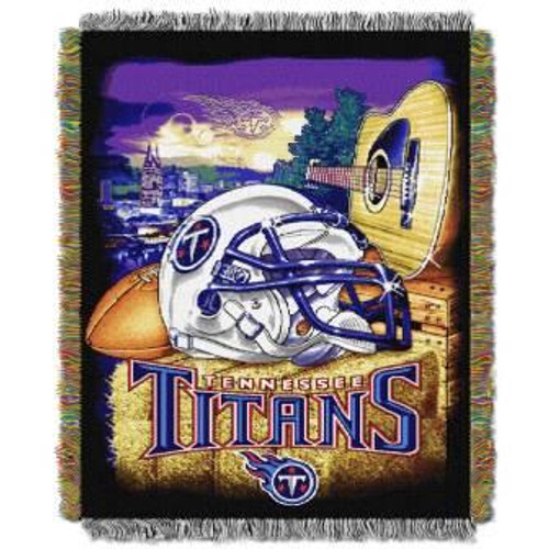 Tennessee Titans Home Field Advantage Woven Tapestry Throw Blanket