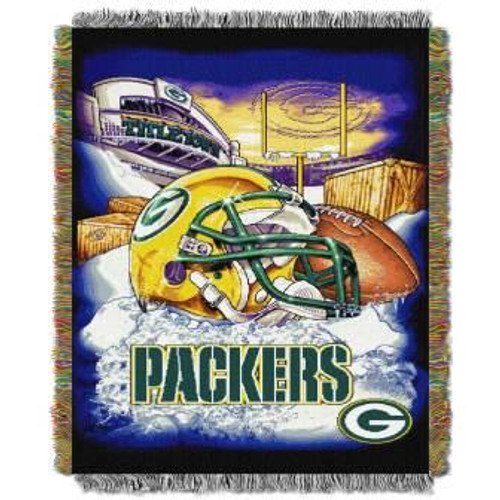 Green Bay Packers Home Field Advantage Woven Tapestry Throw Blanket
