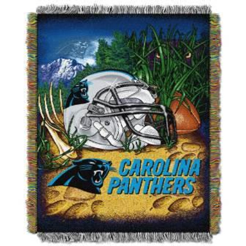 Carolina Panthers Home Field Advantage Woven Tapestry Throw Blanket