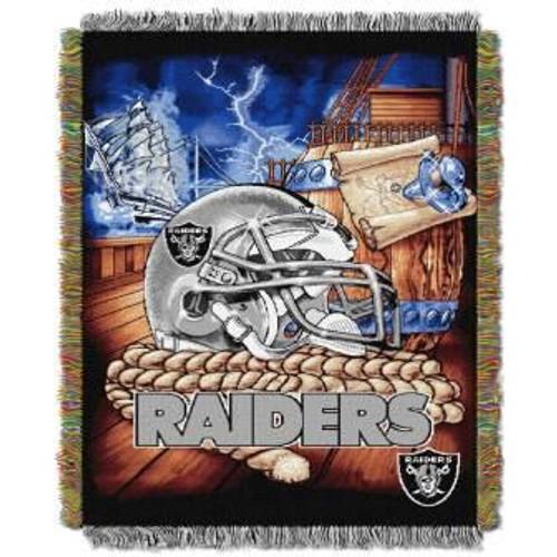 Las Vegas Raiders Home Field Advantage Woven Tapestry Throw Blanket