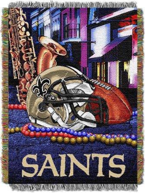 New Orleans Saints Home Field Advantage Woven Tapestry Throw Blanket