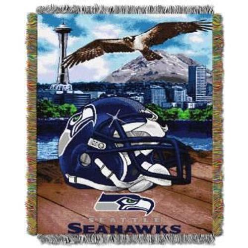 Seattle Seahawks Home Field Advantage Woven Tapestry Throw Blanket