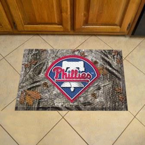 Philadelphia Phillies Camo Scraper Mat