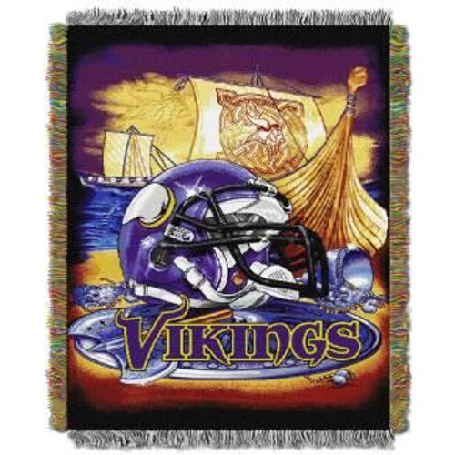 Minnesota Vikings Home Field Advantage Woven Tapestry Throw Blanket