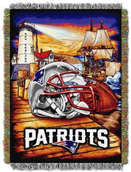 New England Patriots Home Field Advantage Woven Tapestry Throw Blanket