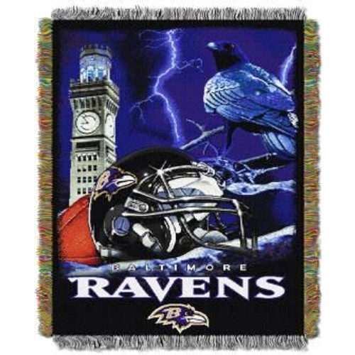 Baltimore Ravens Home Field Advantage Woven Tapestry Throw Blanket