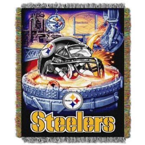 Pittsburgh Steelers Home Field Advantage Woven Tapestry Throw Blanket