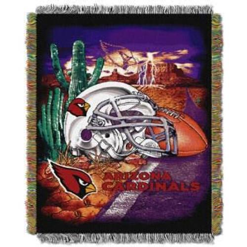 Arizona Cardinals Home Field Advantage Woven Tapestry Throw Blanket