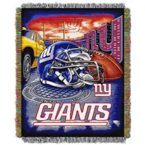 New York Giants Home Field Advantage Woven Tapestry Throw Blanket