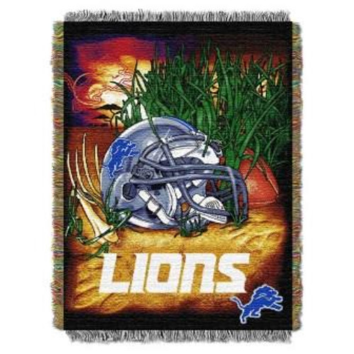 Detroit Lions Home Field Advantage Woven Tapestry Throw Blanket
