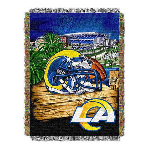 Los Angeles Rams Home Field Advantage Woven Tapestry Throw Blanket
