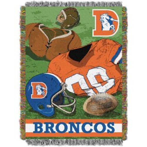 Denver Broncos Vintage Woven Tapestry Throw Blanket